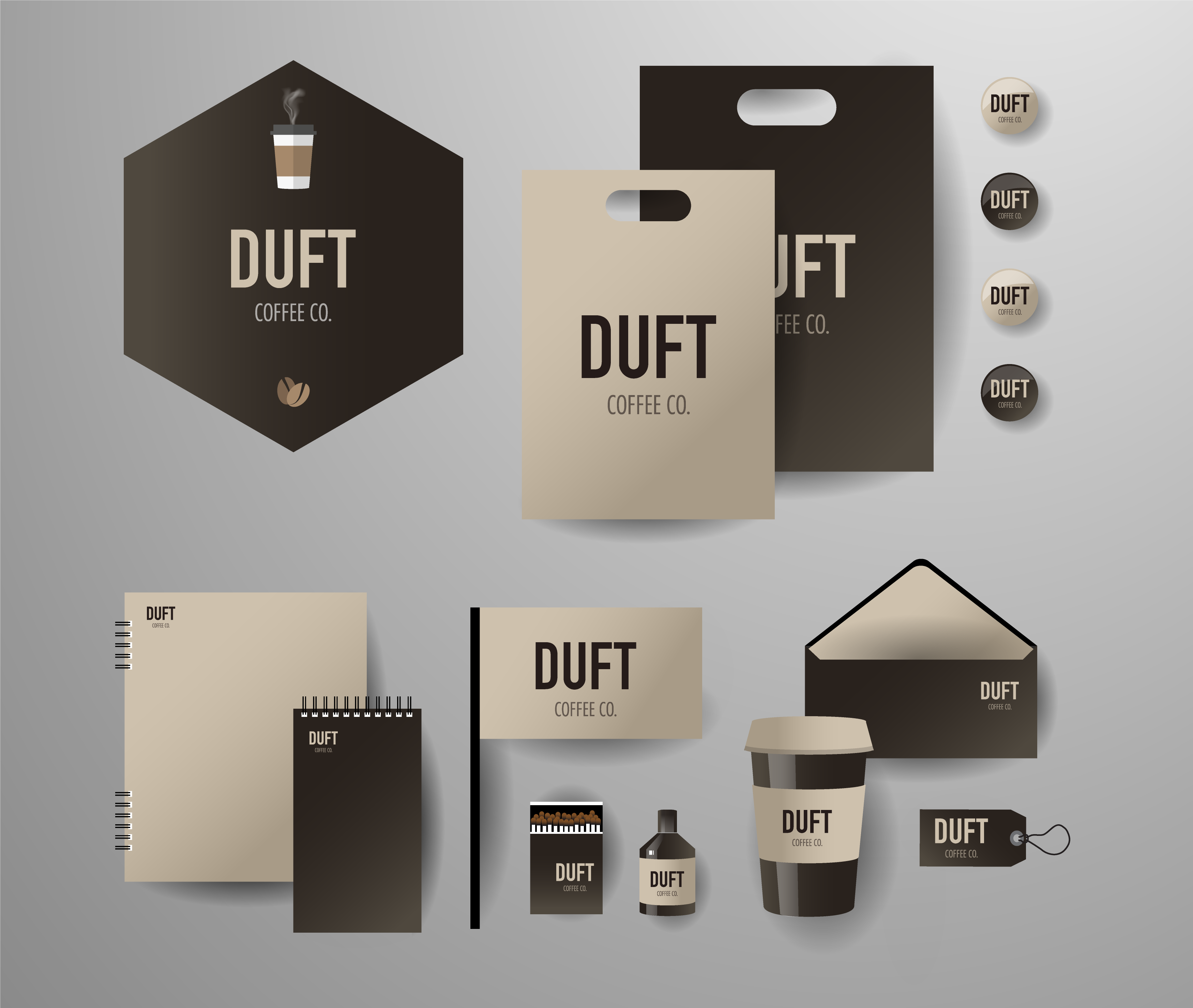 Kahve Kurumsal Kimlik Tasarımı Örneği